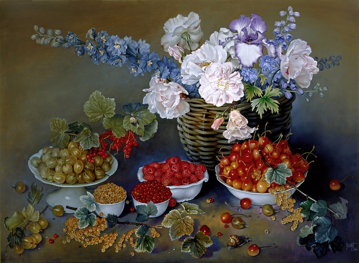 SMALL FRUITS OF SUMMER 66x91 cms Oil on canvas 2000 copy (700x513, 448Kb)