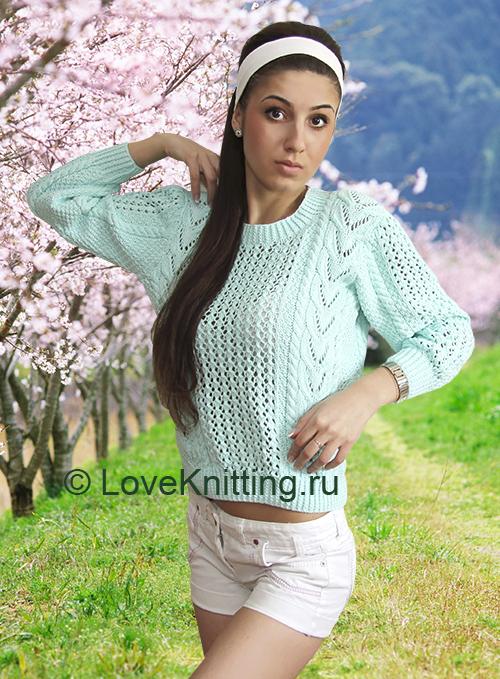 07 Автор Ажур пуловер 1_1 МТ2 (500x679, 438Kb)
