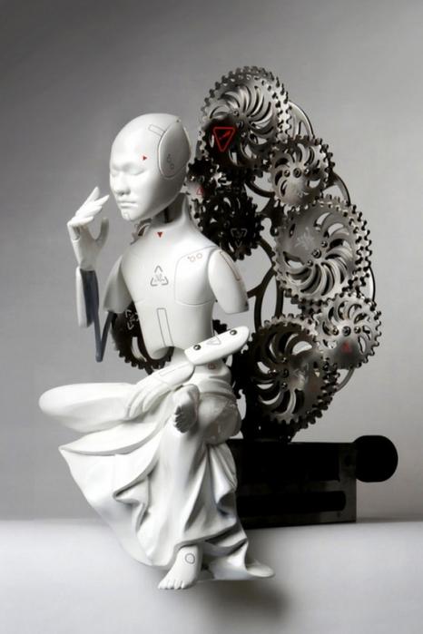 Ванг Джи Вон. Механические скульптуры просвещенных бодхисаттв