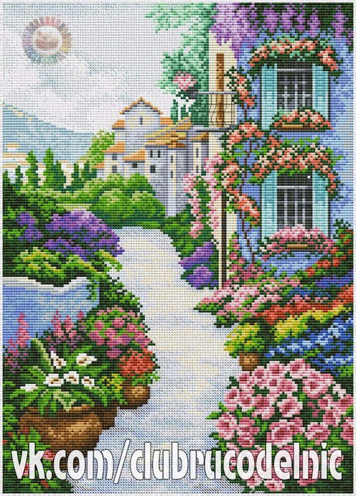 Blooming Town (502x700, 707Kb)