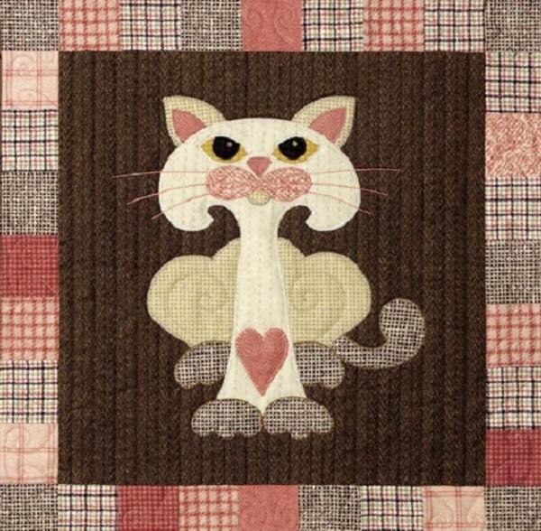 лоскутные одеяла с кошками 2 (600x588, 400Kb)