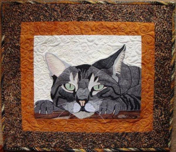лоскутные одеяла с кошками 4 (600x517, 436Kb)