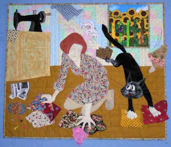 лоскутные одеяла с кошками 8 (600x515, 453Kb)
