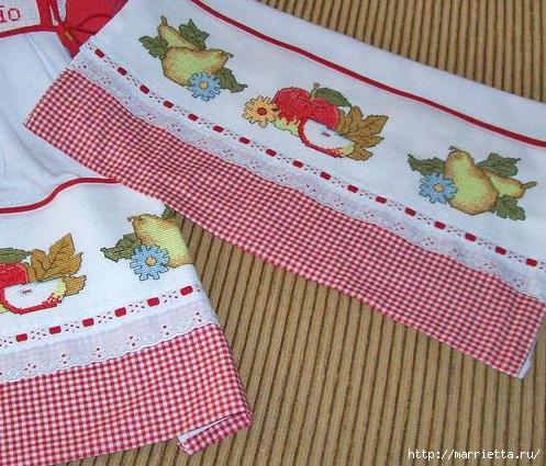 Фрукты на полотенце. Схема вышивки крестом (3) (497x425, 241Kb)