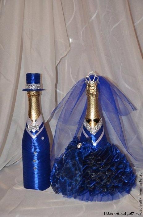 Украшение на шампанское жених и невеста своими руками