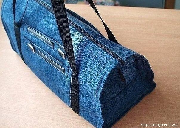 сумка из старых джинсов