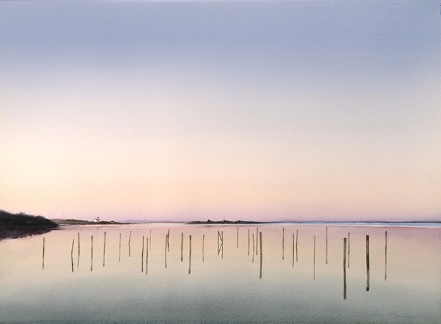 Silent Afterglow on the Salt Pond (642x471, 166Kb)