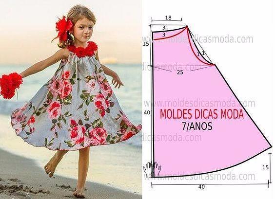 Летние платья для девочек с простыми выкройками, выбирайте (564x409, 186Kb)