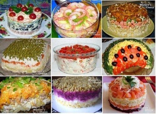 Топ праздничных салатов с