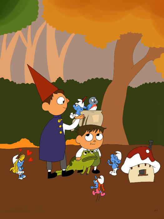 Wirt and Greg found smurfs village (525x700, 204Kb)