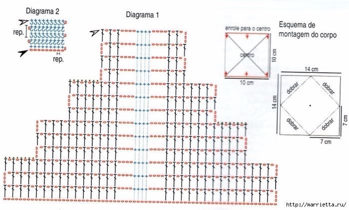 Вязание крючком. Бабочка - держатель для полотенца (2) (700x420, 216Kb)