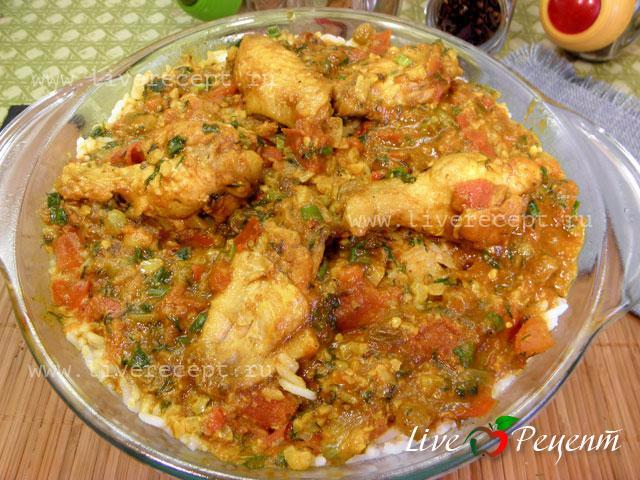 Бирьяни с курицей рецепт