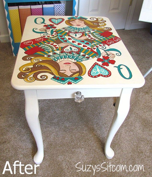 queen-of-hearts-side-table-crafts-painted-furniture (602x700, 554Kb)