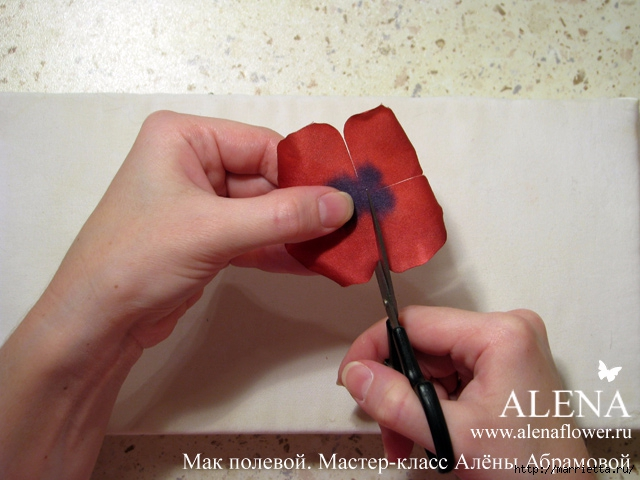 Цветы из ткани. МАК полевой (19) (640x480, 195Kb)