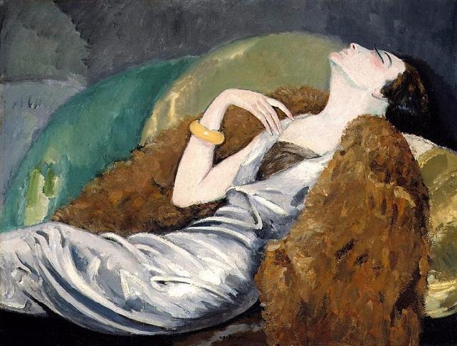 ������� �� ����, 1930. Woman on Sofa (642x486, 379Kb)