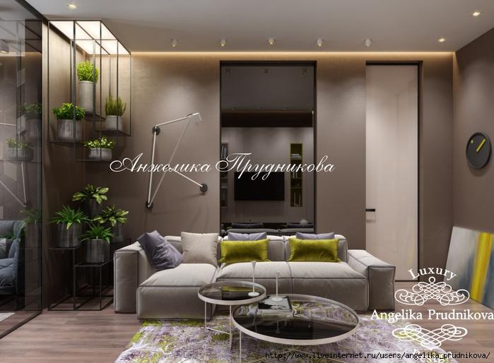 Дизайн интерьера квартиры в стиле хай-тек в ЖК Северный парк /5994043_8gostinaya (700x514, 198Kb)
