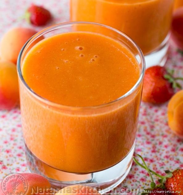 Вкуснейший абрикосово-клубничный смузи (2) (593x630, 219Kb)
