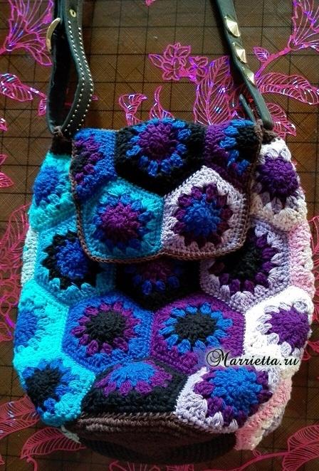 Летний рюкзак крючком цветочными мотивами (1) (448x662, 453Kb)