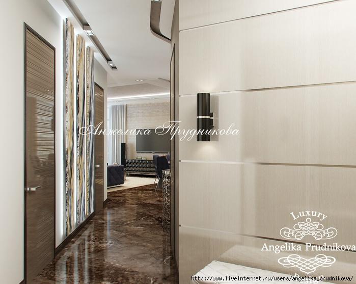 Интерьер квартиры в стиле модерн на Мосфильмовской /5994043_27_kholl (700x557, 211Kb)