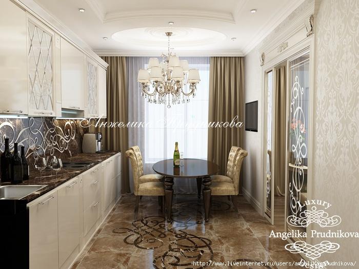 Интерьер квартиры в классическом стиле в ЖК «Английский квартал» /5994043_07_kukhnya (700x525, 245Kb)