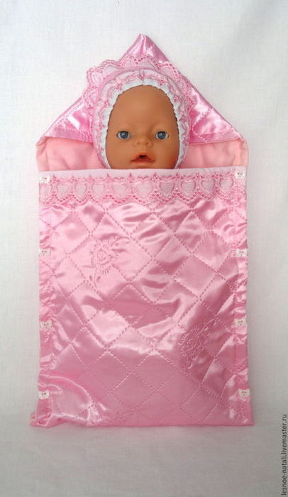 Как сшить конверт для куклы беби бон своими руками 100