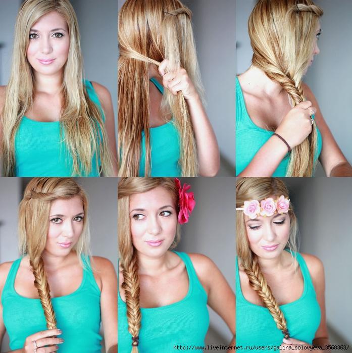 быстрые прически из длинных волос для девушек подростков