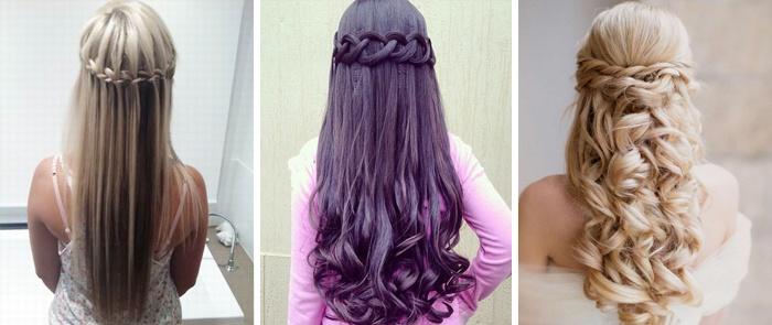 Как сделать прическу на распущенные волосы девочке
