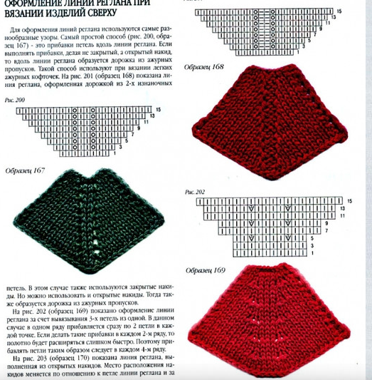 Вязание реглан снизу спицами схема 43