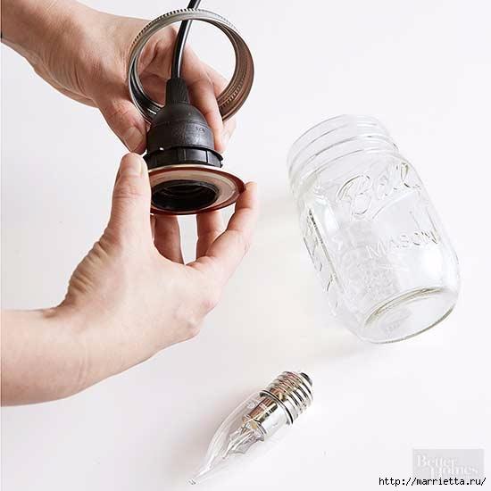 Креативный светильник из стеклянных банок (5) (550x550, 79Kb)