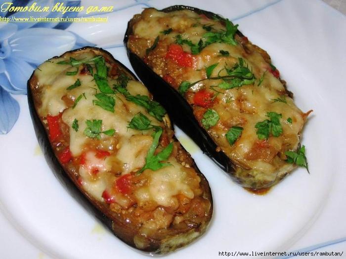 Рецепт баклажаны лодочки с фаршем в духовке рецепт с пошаговый