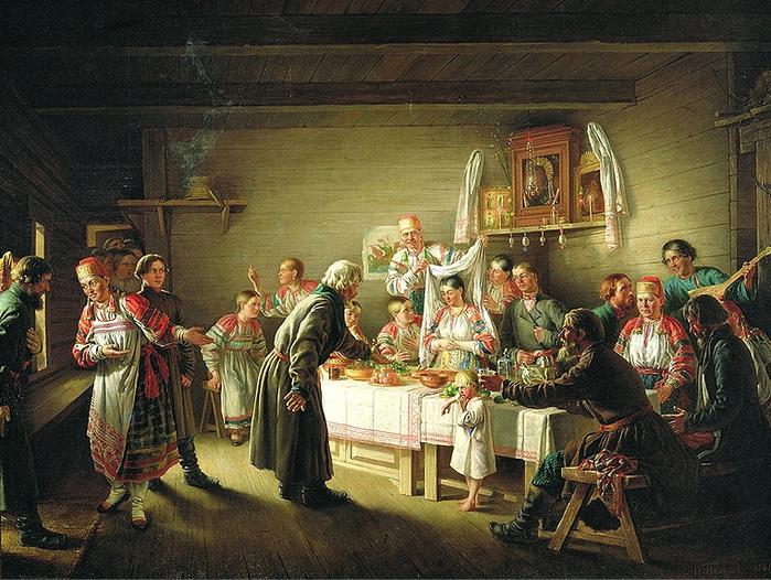 свадебные обряды на руси картины