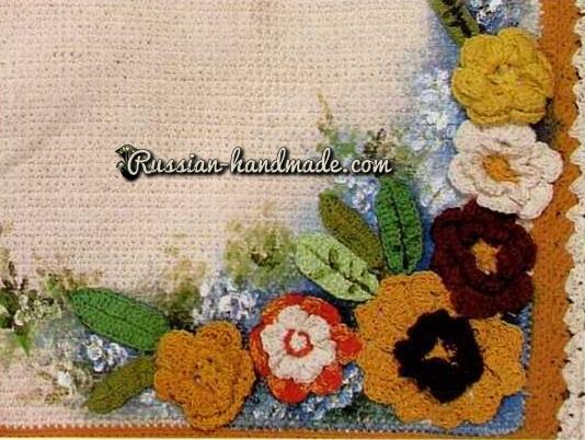 Цветочный коврики для ванной. Вязание крючком (4) (534x402, 255Kb)