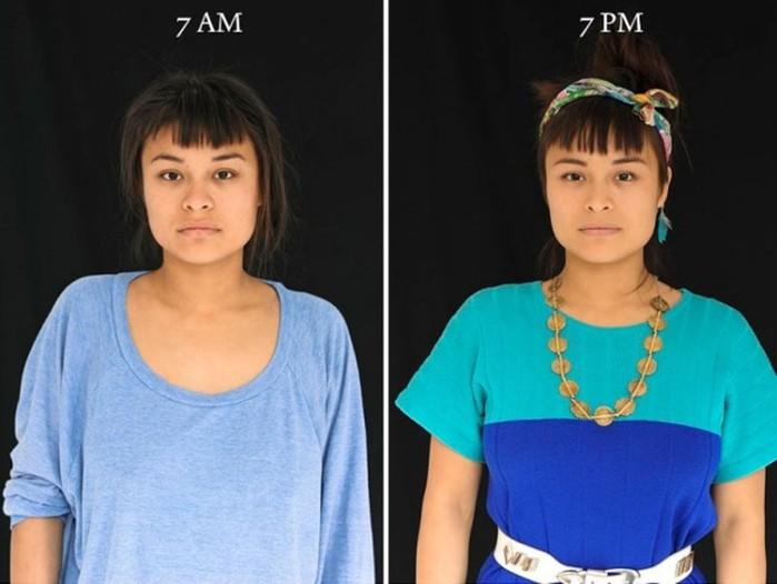 «7 утра - 7 вечера»: как по-разному выглядит человек