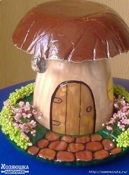 Как сделать гриб в саду