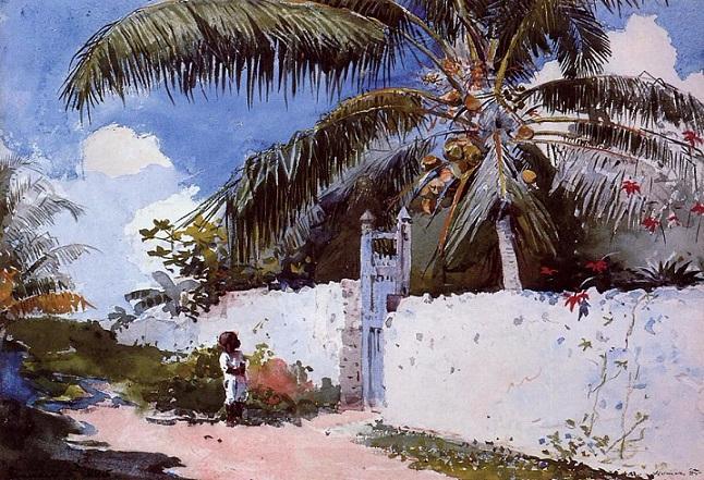 A Garden in Nassau, 1885 (646x441, 413Kb)