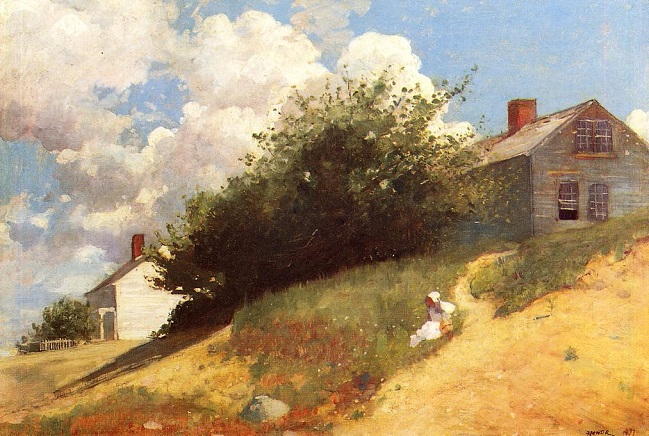 Houses on a Hill, 1879 (649x436, 372Kb)