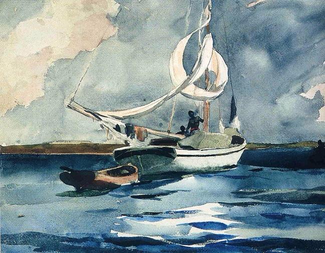Sloop, Nassau, 1899 (649x505, 478Kb)