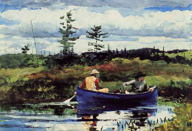 The Blue Boat, 1892 (645x440, 389Kb)