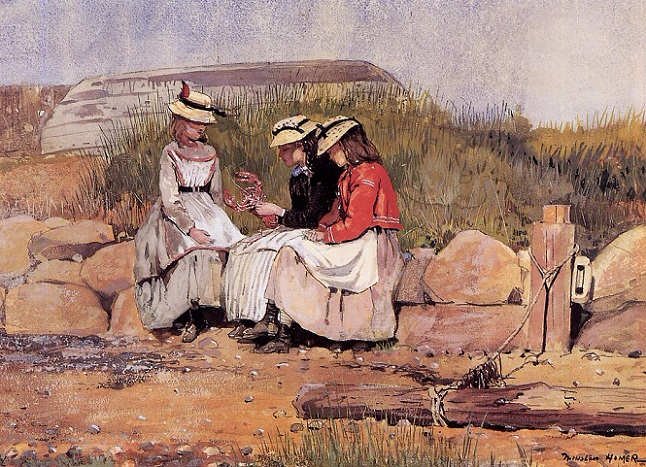 Girls with Lobster, 1873 (646x467, 462Kb)