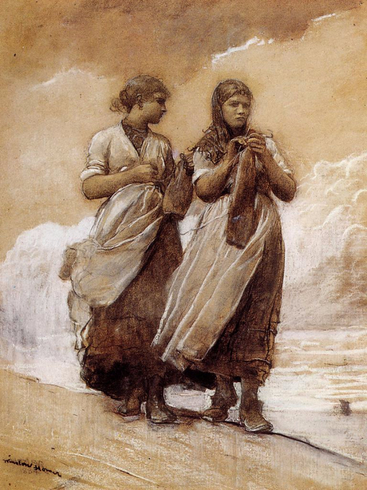 Fishergirls_on_Shore_Tynemouth (525x700, 445Kb)