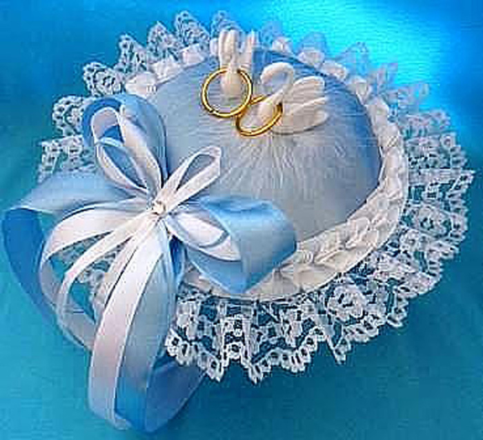 Свадебные подушечки для колец своими руками