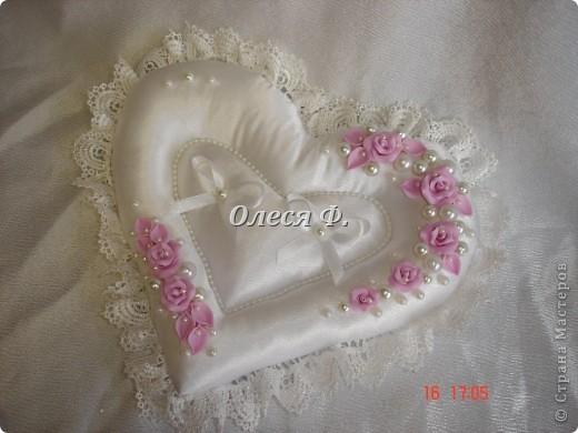 Как сделать свадебную подушечку для колец своими руками