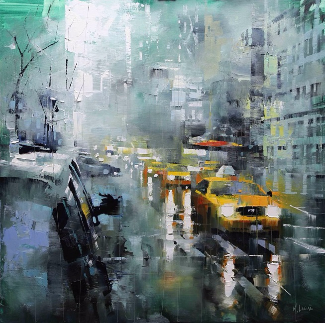 Mark Lague New York Green Rain (653x649, 489Kb)