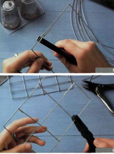 Плетение из проволоки. Как сделать корзину - поднос для стаканов.. Обсуждение на LiveInternet - Российский Сервис Онлайн-Дневник