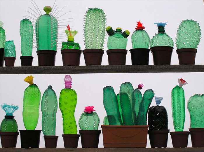Своими руками. Пальма из пластиковых бутылок (7) (700x521, 364Kb)
