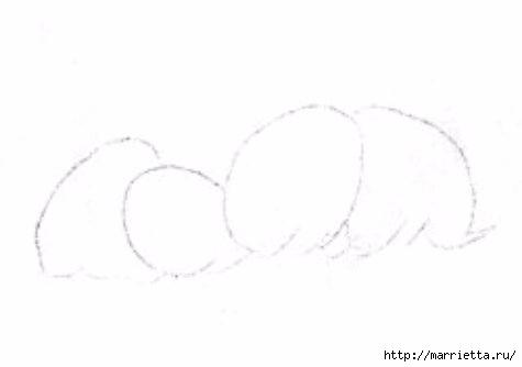 Курочки на салфетке. Шаблоны для росписи или аппликации (16) (475x334, 20Kb)