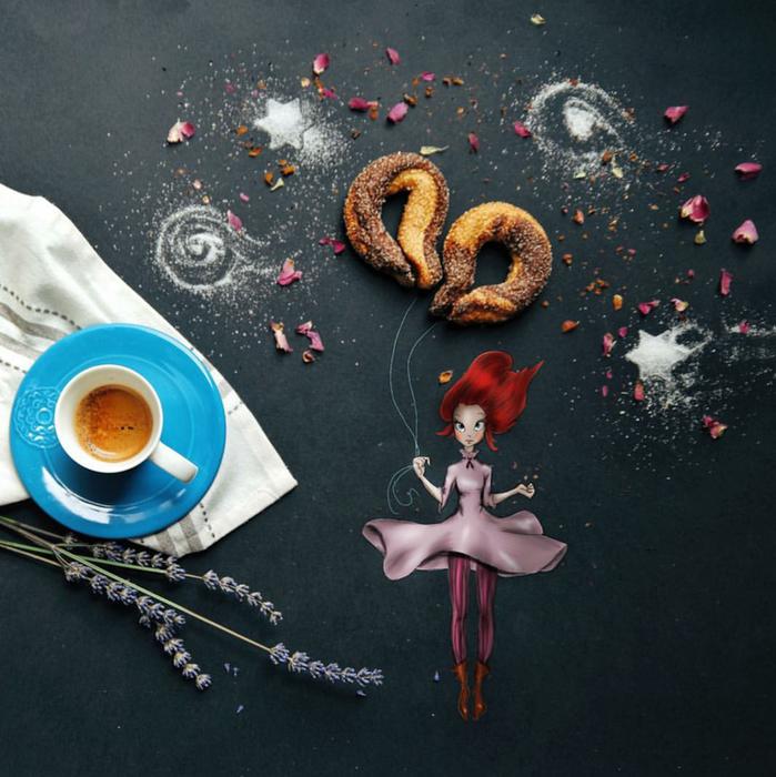кофейные картинки Cinzia Bolognesi 2 (699x700, 649Kb)