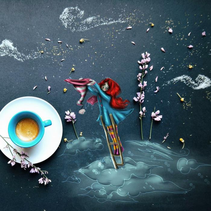 кофейные картинки Cinzia Bolognesi 6 (700x700, 692Kb)