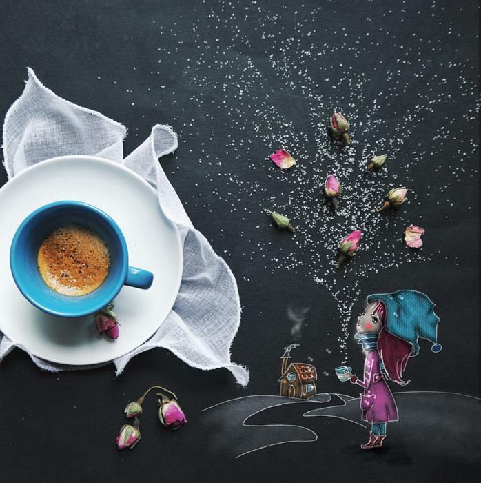 кофейные картинки Cinzia Bolognesi 8 (698x700, 633Kb)