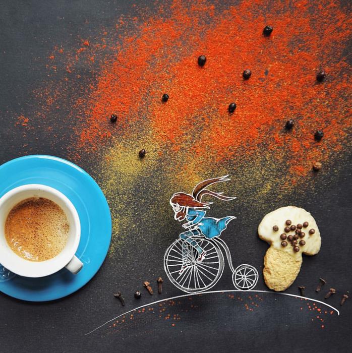кофейные картинки Cinzia Bolognesi 9 (698x700, 878Kb)